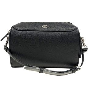 F76629 Bennett Crossbody Purse Black Leather Small